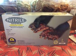 Gloves Nitrile Black